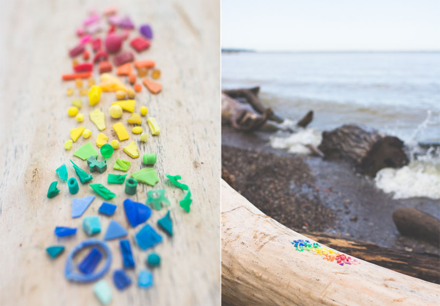 beach plastic, rainbow trash, lake erie, wendy park