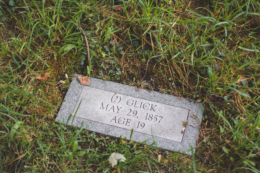 headstone, question mark, State of Ohio Asylum for the Insane Cemetery
