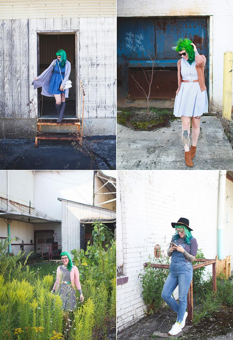 kaylah doolan, cleveland fashion blog, ohio blog, green hair