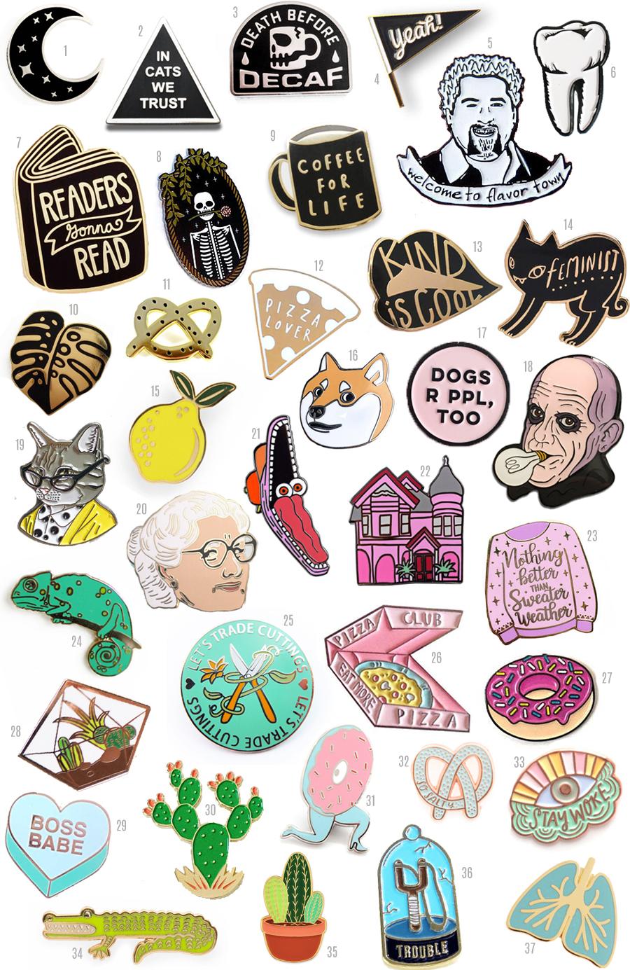 lapel pins, enamel pin, gift guide, flair, pin game