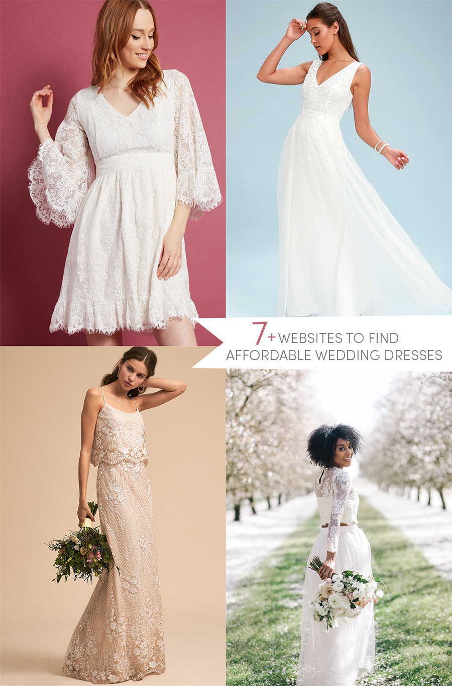 7 Websites To Find Affordable Wedding Dresses The Dainty