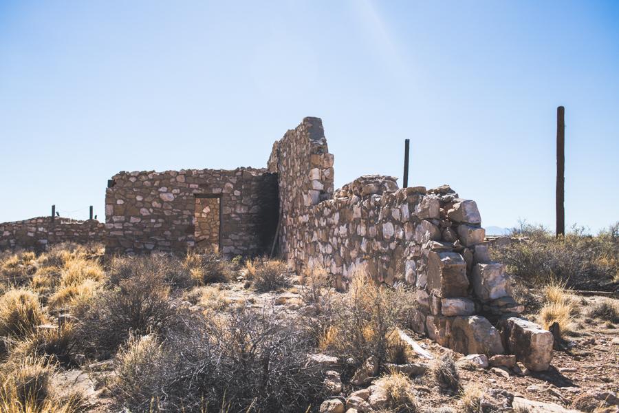 ruins at Two Guns ghost town