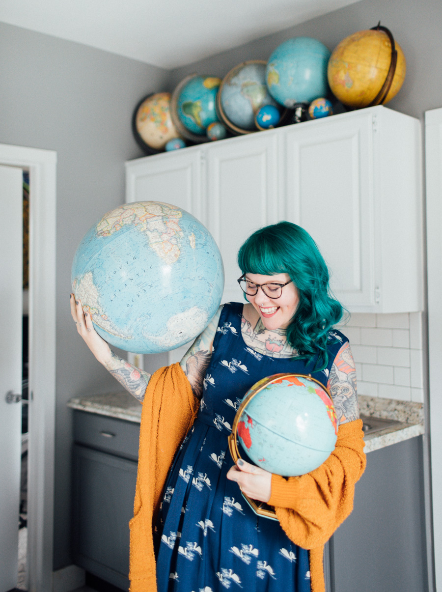 The Dainty Squid globe collection