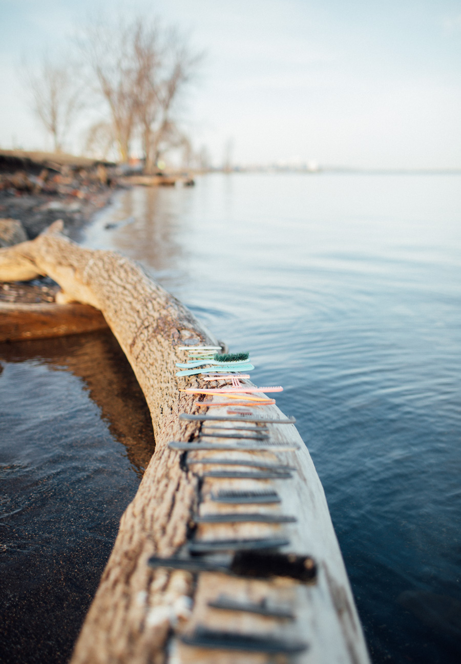beachcombing on Lake Erie