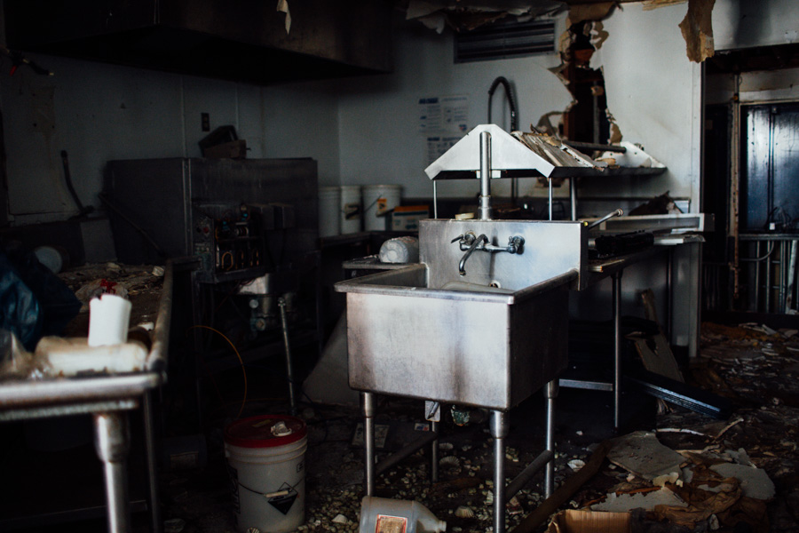 abandoned diner kitchen