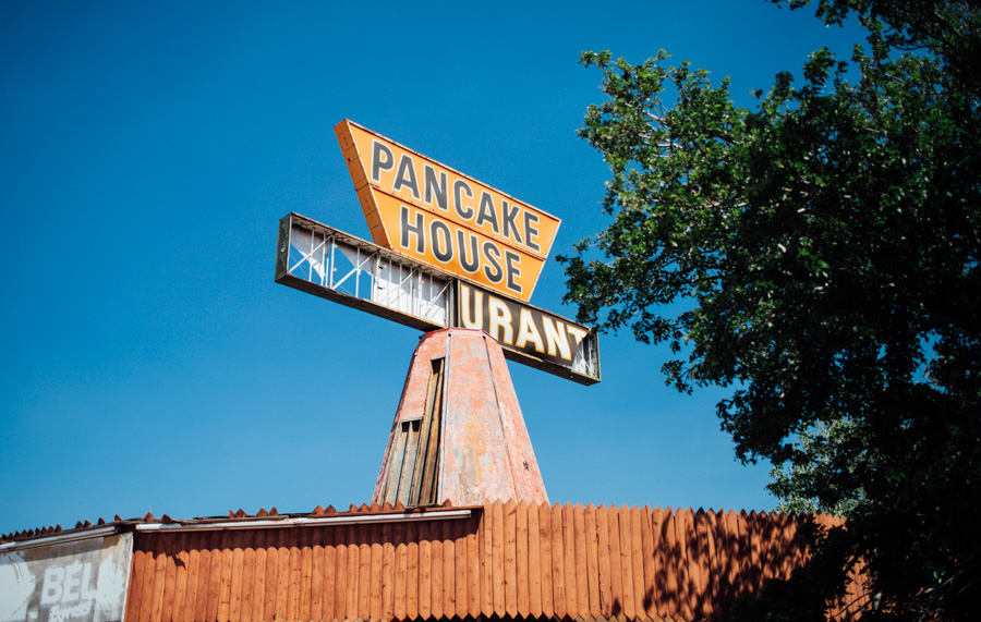 abandoned pancake house