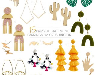 statement earring round up!