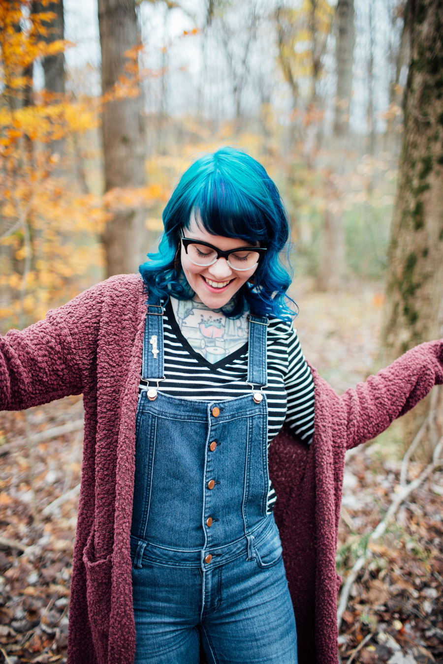 two tone blue hair