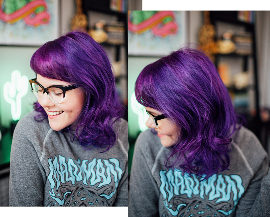 Hair Dye Diaries Blue To Purple The Dainty Squid