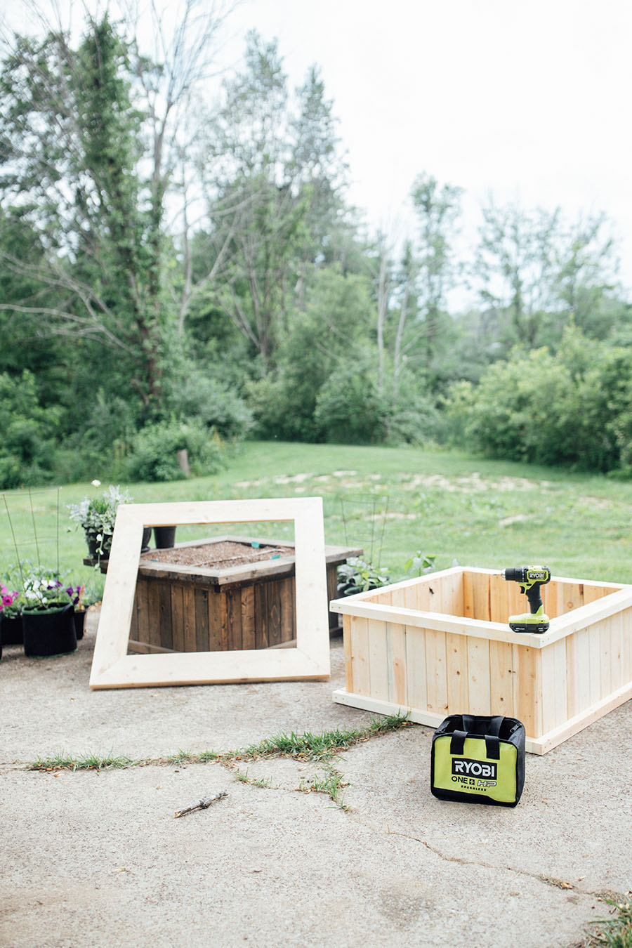 DIY raised bed upcycle