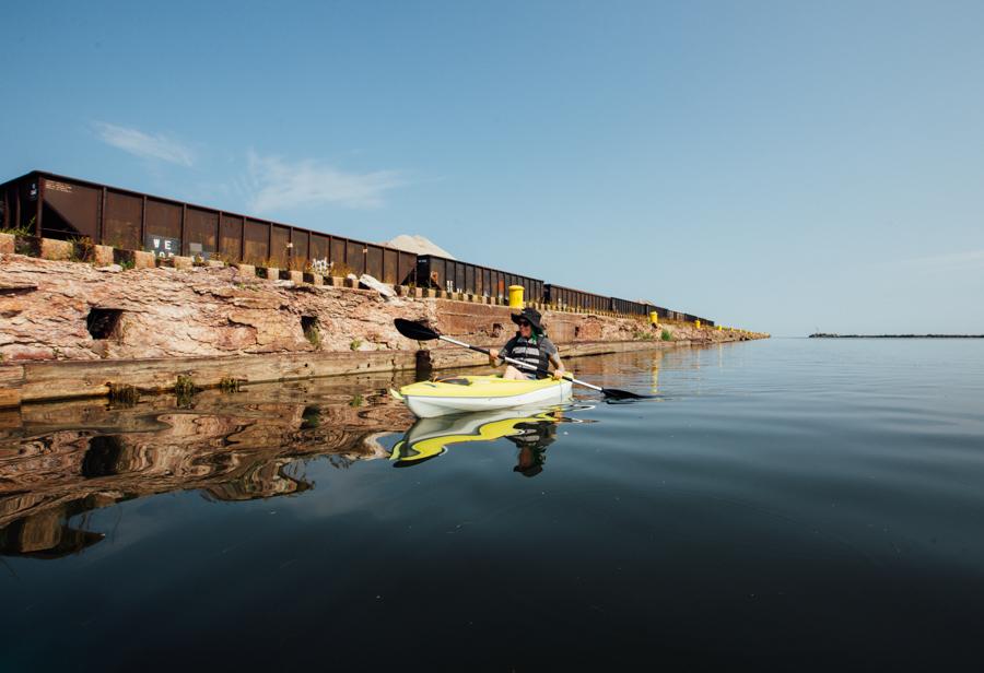 kayaking Lake Erie with Harbor Yak