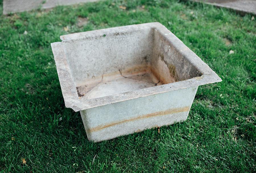 fiber glass tub